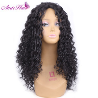 Amir Long Afro Kinky Curly None Lace Front Synthetic Hair Wigs For Black Women Pre Plucked