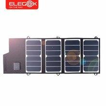 ELEGEEK 26 Вт Портативный SUNPOWER Солнечное Зарядное Устройство USB + DC Двойной Выход Складной Панели Солнечных Батарей для iPhone Android Батареи зарядное устройство и т. д.