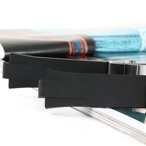Image 4 - Pulseira de silicone de borracha para aquis, pulseira dupla para oris watch, mergulho, esporte, pulseira preta para aquis 24*11mm fivela com fivela