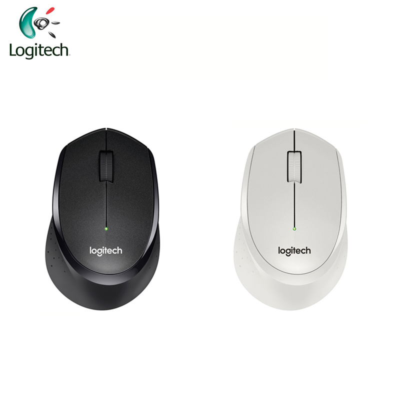 Logitech M330 Wireless Mouse 2.4Ghz with Black / White for PC Game Office Mouse for Windows 10/8/<font><b>7</b></font> Mac OS image