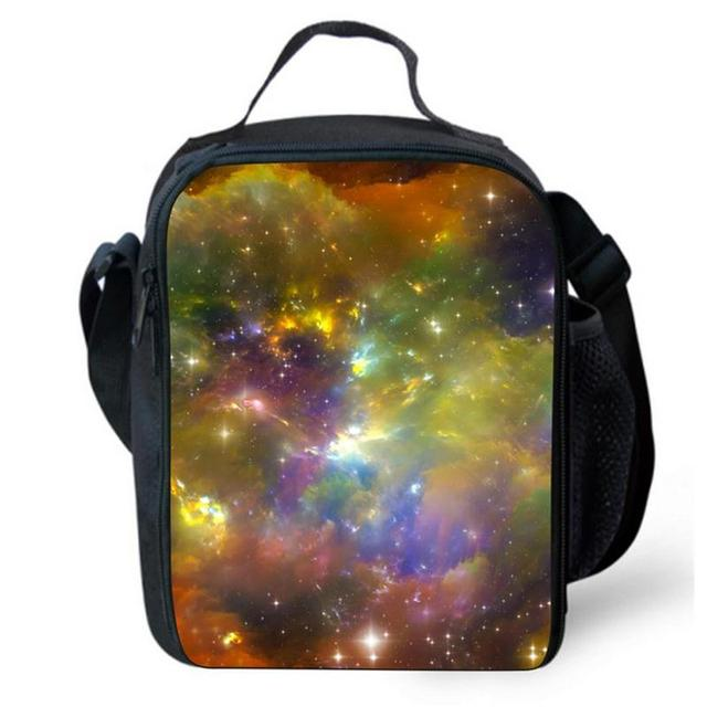 Moon Print Children Lunch Bags Thermal Waterproof Insulated Mens Small Lunchbag Kids Meal Package Students Lunch Box