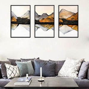 Landscape Abstract Mountain Lake Poster Nordic Canvas Painting Home Decor Wall Print Art Living Room Picture Scenery No Framed