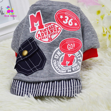 Dogbaby Pet Costume Puppy Clothing Cotton Novelty Design Print  For small Dogs Cute Pocket Dog cat Winter Clothes Apparel S11