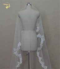 300см долго ! Новая мода Бесплатная доставка горячей продажи свадебная фата фата свадебные аксессуары кружева фата OV0003