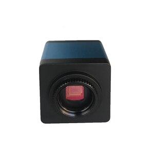 Image 3 - Cámara de microscopio Industrial de 13MP, salida HDMI VGA, lente de montaje en C 180X 300X, grabadora de vídeo de luz LED 56 para soldadura PCB