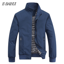 E-BAIHUI Fashion Stand Collar jackets Solid Slim Fit Coats Autumn winter Mens Jacket Zipper Bomber Jackets Outwear Clothes G029