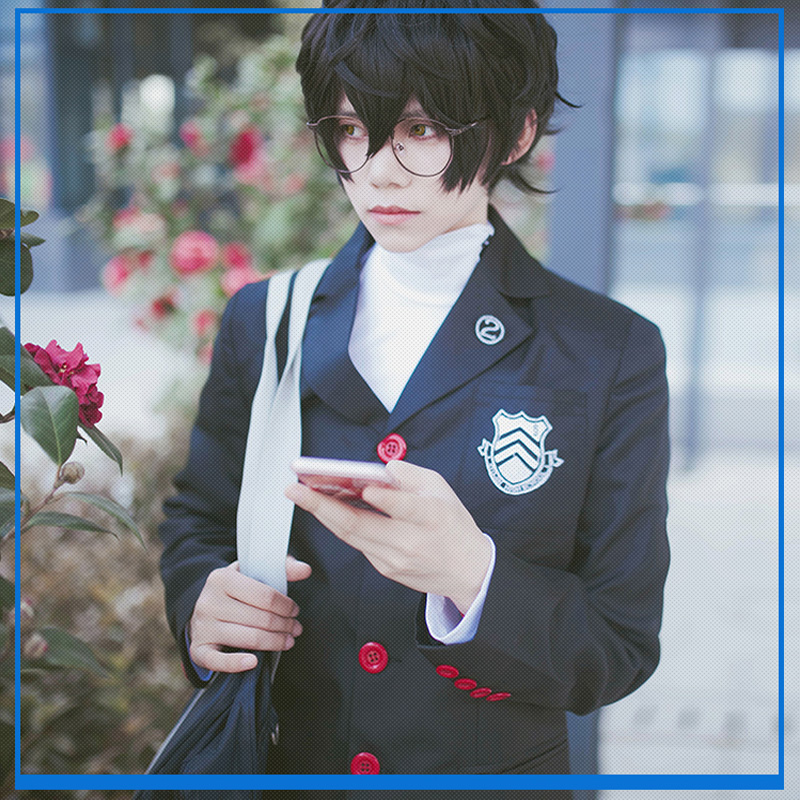 Japanese Anime Game Persona 5 Amamiya Ren joker School Uniform Suit Party Cosplay Costumes Clothes Unisex Full Sets 2018 persona 5 makoto nijima cosplay costumes women school uniform