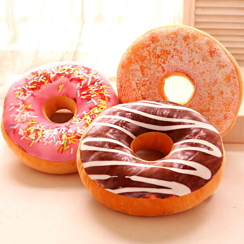 Cojines Sofa Chocolate.1pc Cute Donuts Pillow Chocolate Cushion Cushions For Sofa