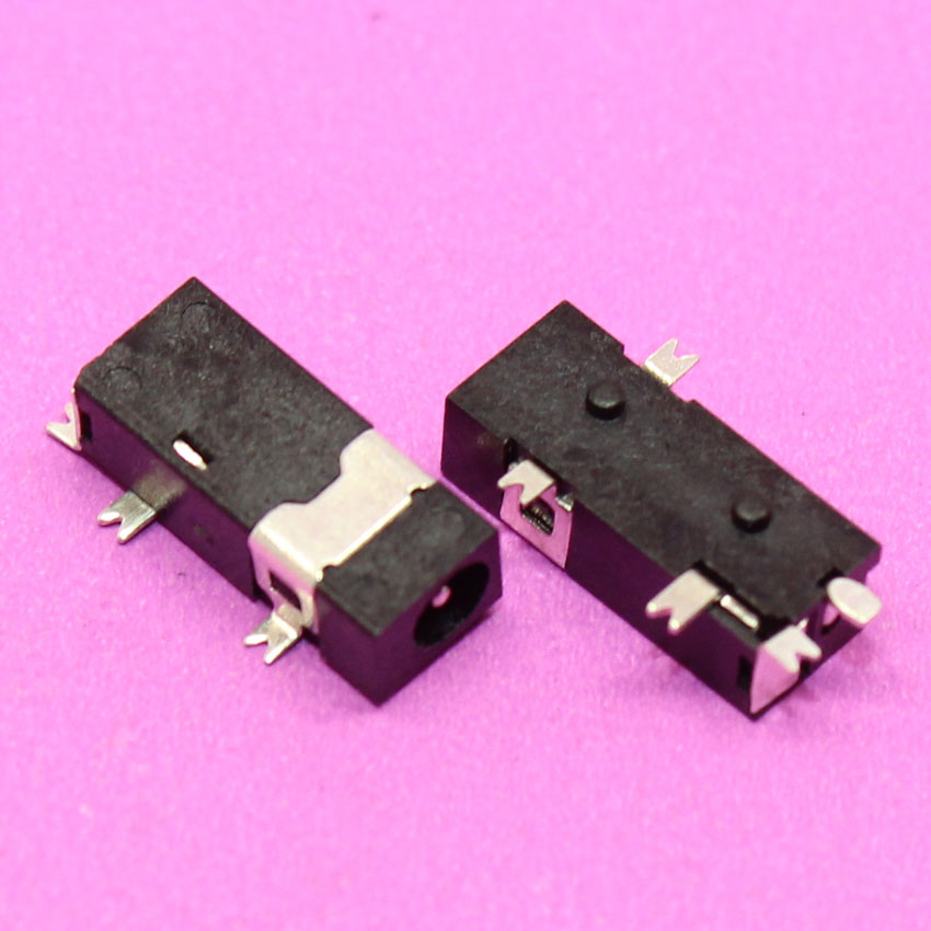 YuXi Power DC Jack Connector Socket, 5pin SMT, Hole dia 2.5mm Pin=0.7mm, Size 11x4.5x3.4mm, fit for phone, Tablet, DV