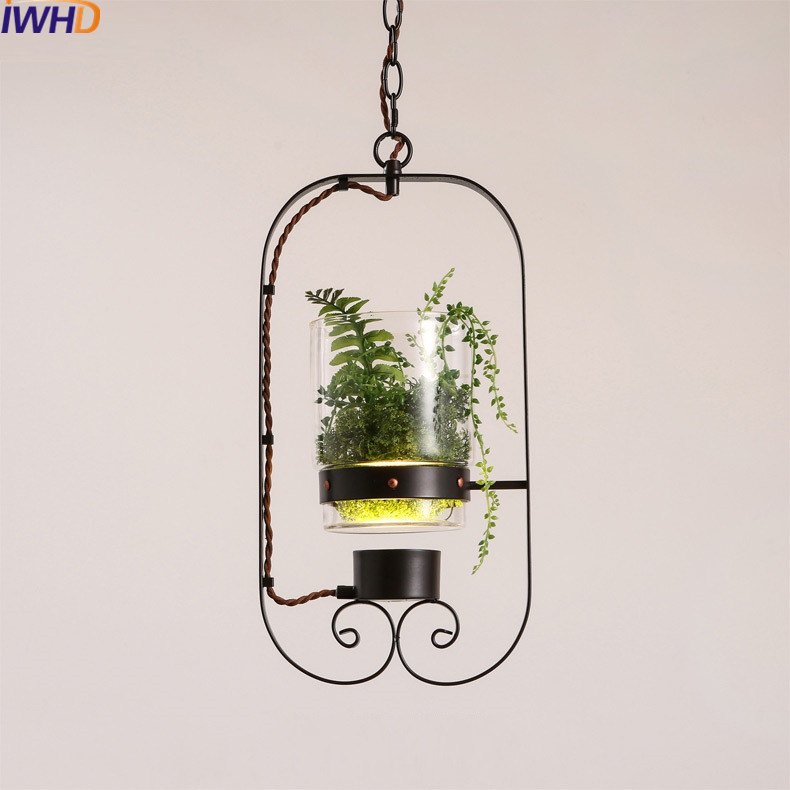 IWHD Glass LED Pendant Lights Modern Creative Black Iron Hanging Lamp Dining Room Suspension Luminaire Home Lighting Fixtures hghomeart children room iron aircraft pendant light led 110v 220v e14 led lamp boy pendant lights for dining room modern hanging