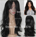 New Hotsale Long Wavy Black Lace Front Wigs Celebrity hairstyles Kim Kardashian Hairstyle Synthetic Hair  wigs