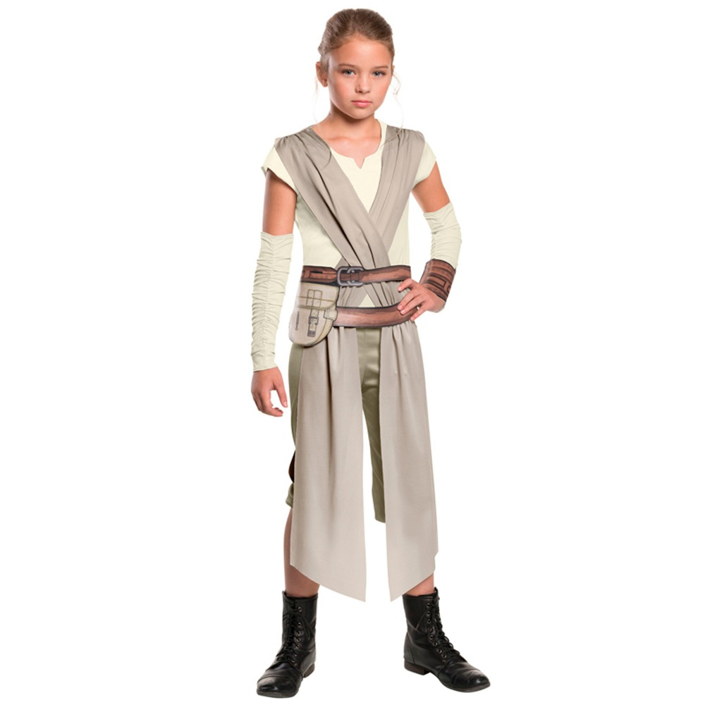 Child Classic Star Wars The Force Awakens Rey Fancy Dress Girls Movie Charater Carnival Cosplay Halloween Costume
