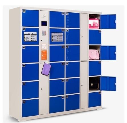 24 Door Shopping Mall Password Lockers Self  Bar Code Cabinet Fingerprint Face Recognition Storage Safes