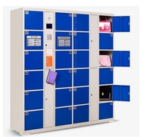24 door shopping mall password lockers self bar code cabinet Fingerprint face recognition storage Safes