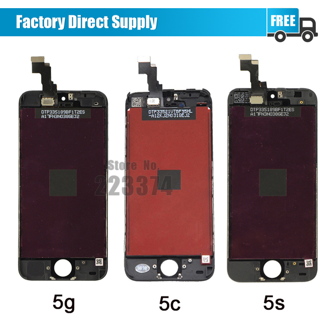 Black No Dead Pixel For iPhone 5 5s 5c For iphone 6 6 Plus LCD display Touch Screen Digitizer Assembly Free Shipping