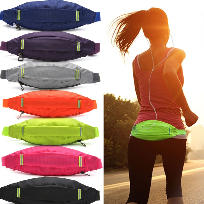 THINKTHENDO Unisex Sports Running Cycling Jogging Earphone Waist Belt Pack Bag Pouch