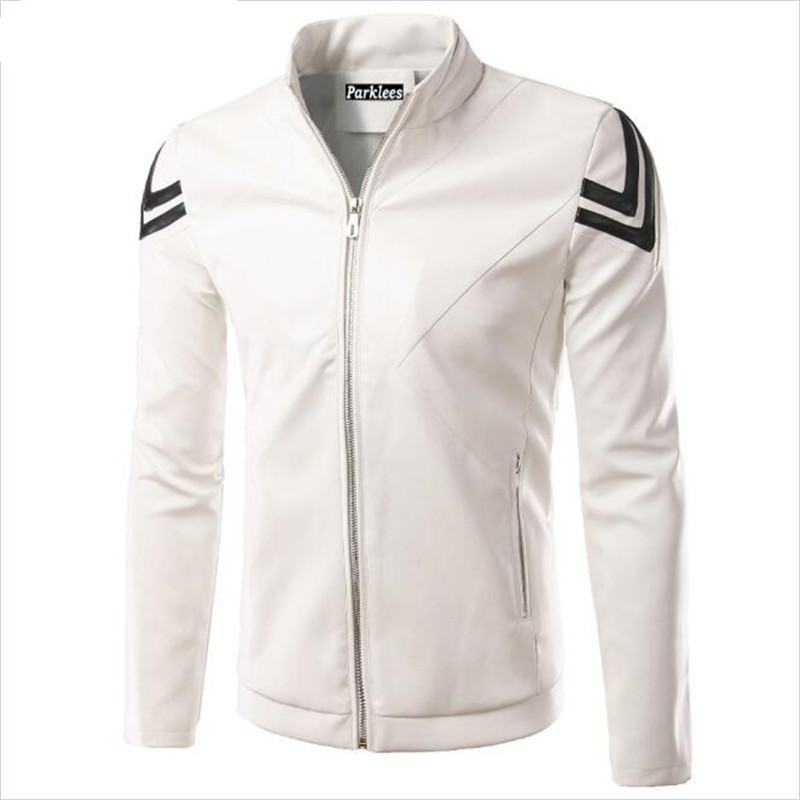 new white pu leather jacket men veste cuir homme 2016. Black Bedroom Furniture Sets. Home Design Ideas