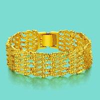 Czeski styl męska złota bransoletka noble 24 k złota biżuteria bransoletka 20mm18cm Rozmiar dobrej jakości popularne złote łańcuchy Darmo wysyłka