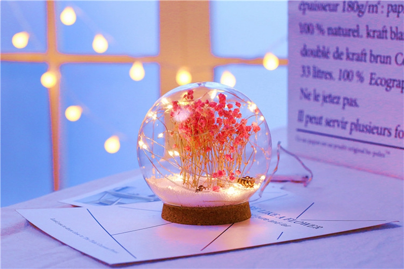 Creative LED Crystal Ball Design Table Lamp Room Decor Bedside Night Light For Girls Baby New Year Christmas Birthday Gift (19)
