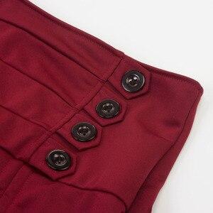 Image 4 - תחפושות Steampunk גותי חצאית תחרה נשים בגדי גבוהה נמוך לפרוע מפלגה לוליטה אדום מימי הביניים ויקטוריאני פאנק סקטים כפתור קדמי