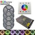 20M RGBW SMD5050 LED Strip Light Nowaterproof DC12V 60Leds/M1200LEDS Flexible Light strip RGB + White light+touch controller+15A