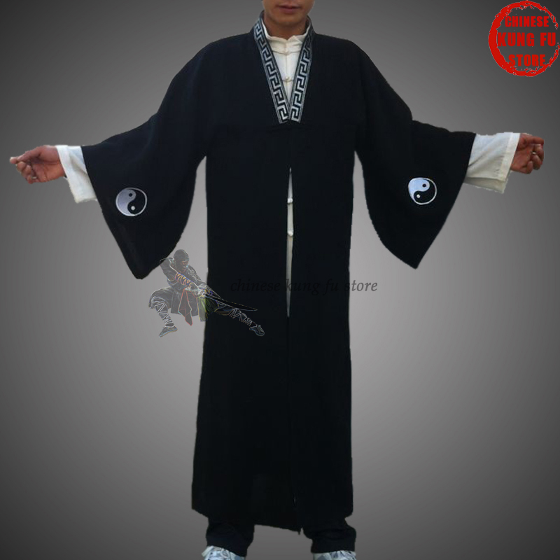 Custom Wudang Taoist Robe Taoism Tai chi Uniform Kung fu Martial arts Shaolin Monk Taiji Suit custom make 24 colors linen shaolin uniform buddhist monk kung fu martial arts suit tai chi wing chun wudang taoist clothes