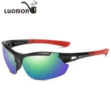 df71db09e5 LUOMON deportes gafas de sol al aire libre conducción brillante sol de los  hombres gafas Anti-viento arena polarizado Sunglass