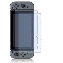 2 ШТ. Закаленное стекло Полный Экран HD Защитная Пленка Ultra Clear Поверхности Гвардии для Nintendo Выключатель NS Консоли Крышки Протектора кожи