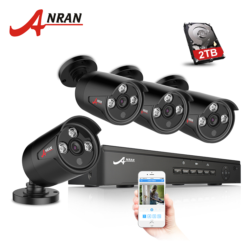 ANRAN Plug And Play 4CH NVR 48V POE CCTV System Onvif P2P 1080P HD H.264 IR Motion Detection Outdoor Security POE IP Camera narinder kumar sharma h p singh and j s samra poplar and wheat agroforestry system