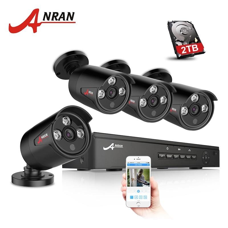 ANRAN Plug And Play 4CH NVR 48V POE CCTV System Onvif P2P 1080P HD H.264 IR Motion Detection Outdoor Security POE IP Camera система видеонаблюдения anran security 2 hdd 8 nvr onvif 1080p hd h 264 ir ip 8ch hk02w ip2 0 4