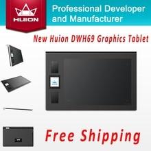 Nueva Huion DWH69 inalámbrico de dibujo tableta gráfica tabletas firma profesional tabletas pintura pluma negro de la tableta