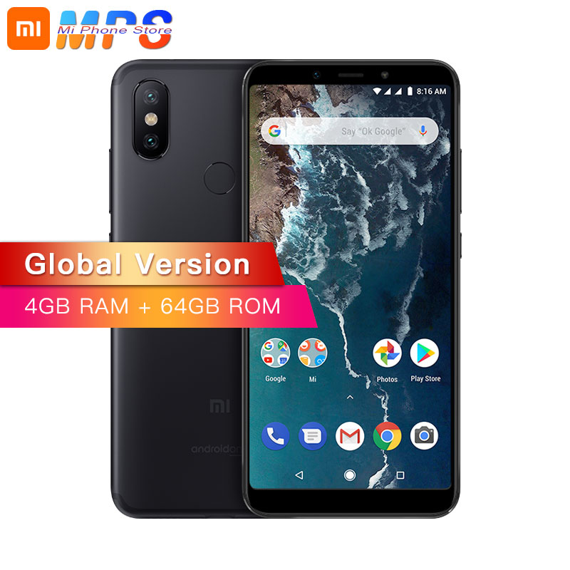Mondial Version Xiao mi mi A2 4 GB 64 GO Smartphone AI Double 20MP Caméra Snapdragon 660 Octa Core 5.99