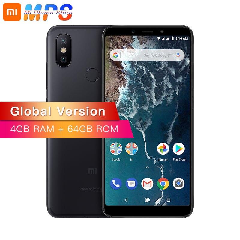 Mondial Version Xiao mi mi A2 4 GB 64 GO Smartphone AI Double 20MP Caméra Snapdragon 660 Octa Core 5.99