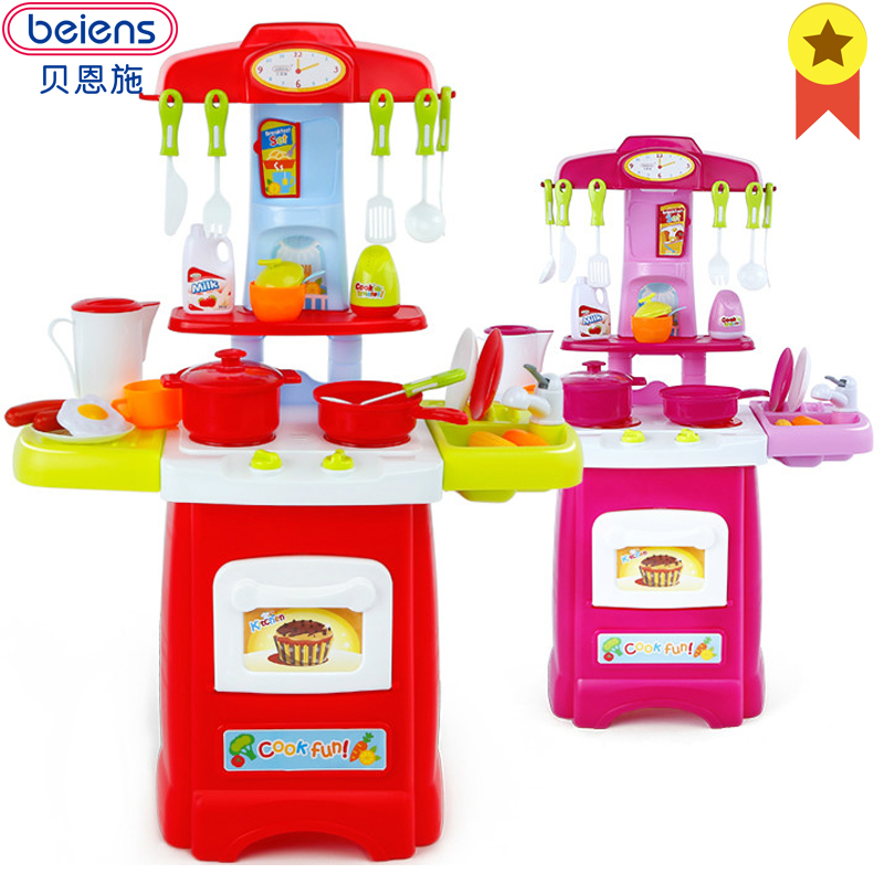 US $59.7 |Beiens Kinder Küche Zubehör Kochen Spielzeug Für 2 4 Jahre Kinder  Große Größe Baby Pretend Spielen Spielzeug Mit Licht Sound ...