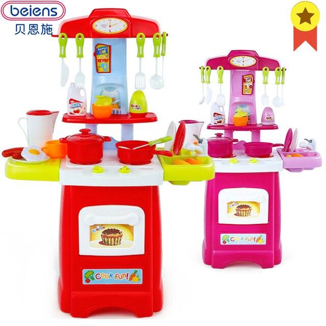Küchen zubehör kinder  Beiens Kinder Küche Zubehör Kochen Spielzeug Für 2 4 Jahre Kinder ...