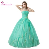 Alexzendra Green Appliqued Strapless Ball Gown Quinceanera Dresses for Girls Gorgeous Quinceanera Dresses Plus Size