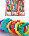 New Year Gifts Baby Toys 0-12 Months Rainbow QQ Kids Molars Ring Teether Teddy Chain Clutch Apron Ring