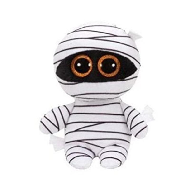 Ty Beanie Boos 6 15cm the White Mummy Halloween Plush Regular Stuffed Animal Collection Doll Toy ty beanie boos plush animal doll skye zuma rocky the dog soft stuffed toys 6 15cm