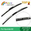 """Carro Limpador winscreen blades para Hyundai I30 (2010-2012), 18 """"+ 24"""", 3 tampão de Borracha seção, brisa, borracha do limpador"""