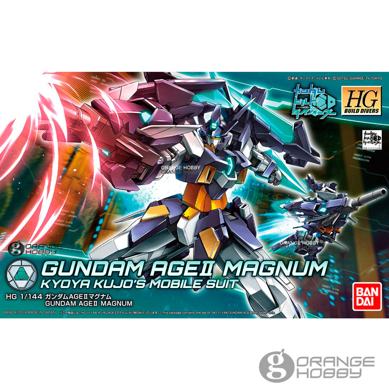 OHS Bandai HG Build Divers 001 1/144 Gundam AGE II Magnum Kyoya Kujo's Mobile Suit Assembly Model Kits