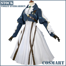 [March.STOCK] Anime Auto Memories Dolls figur Violet Evergarden Retro Victoria Uniform Halloween Cosplay Kostym 2018 Gratis Ship