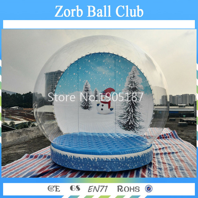 Free Shipping M Cheap Inflatable Snowing Globe Inflatable Cheap Christmas Snow Globe For Display