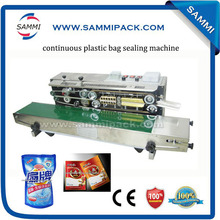 solid ink continuous plastic sealing machine with black color date printing
