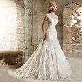 2017 современная сексуальная русалка стиль свадебное платье v-образным вырезом длинные наклейки и кружева свадебные платья vestido де noiva для невесты RB96