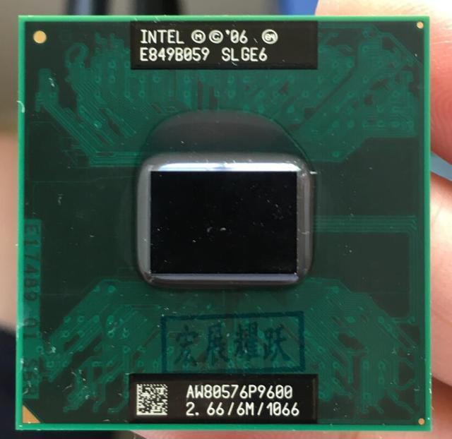 Intel Core 2 Duo P9600, processeur portable, PGA 478, CPU 100%, fonctionne correctement