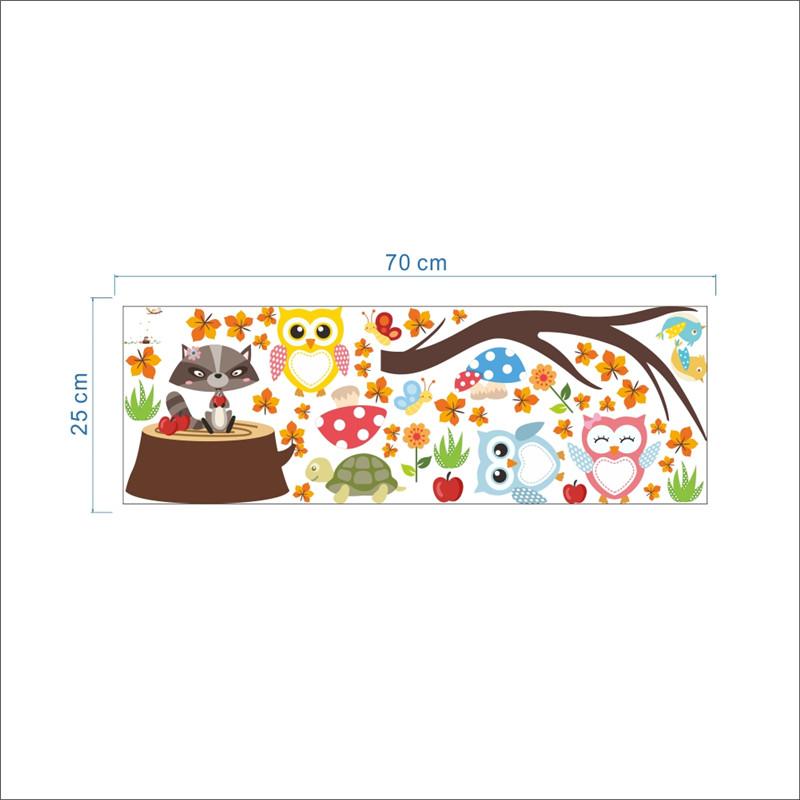 HTB1XyP9PpXXXXbKXFXXq6xXFXXXi - Jungle Forest Tree Animal Owl Monkey Bear Deer Wall Stickers For Kids Room