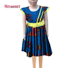 African print dresses for african children with bow african print  bazin riche traditional clothing for cute children   WYT252