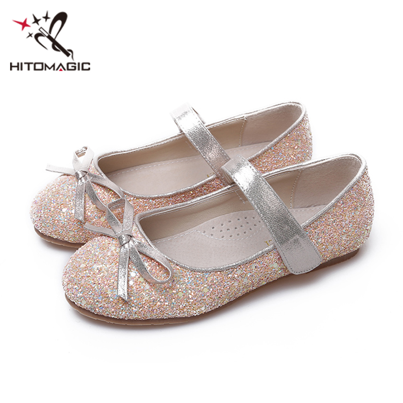 HITOMAGIC Girls Shoes Princess 2018 Children Kids Shoes For Girls Hooks  Soft Summer Footwear Wedding Red For Party School Brand -in Leather Shoes  from ... e6e070b572c8