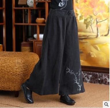 2016 autumn product launches, original design loose big yards of womens cotton linen wide leg pants