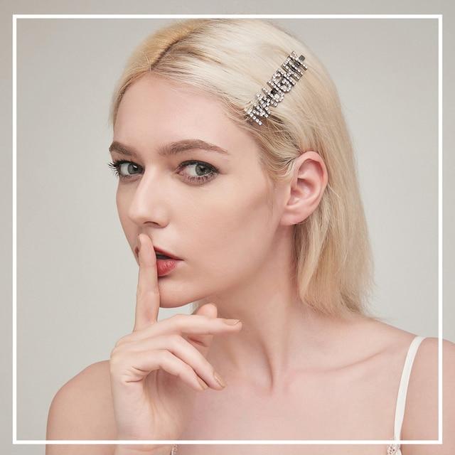 Neue Ankunft Europäischen Stil Design Buchstaben Metall Einfache Seite Haar Clip Für Frauen Mädchen Einzigartige Benutzerdefinierte Wort Haar Zubehör Geschenk